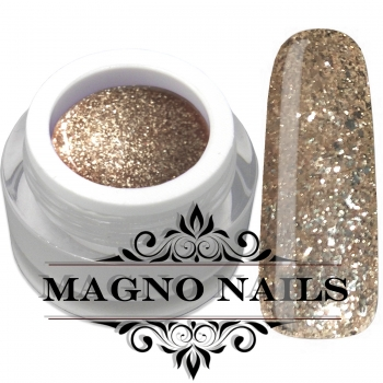 UV Gel - 1308 - Glitter Gel - Champagne Gold
