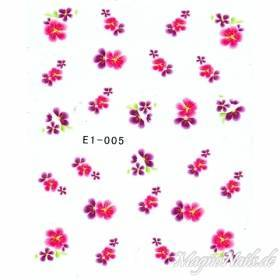 2D Nail Art One Stoke Sticker