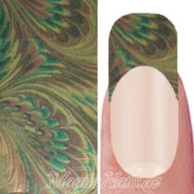Nail Art Transfer Folie 1,5m - Nail Foil - Golden Peacock