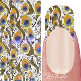 Nail Art Transfer Folie 1,5m - Nail Foil - Design Peacock