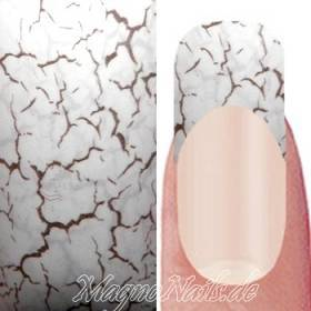 Nail Art Transfer Folie 1,5m - Nail Foil - White Crackle