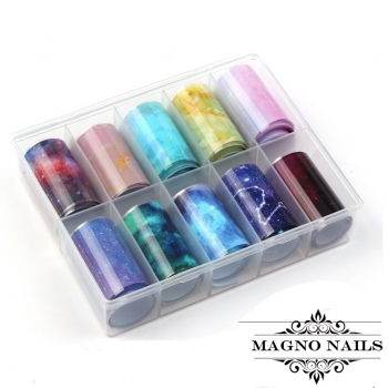 Nail Art Transfer Folien Set - Galaxy