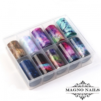 Nail Art Transfer Folien Set - Marble