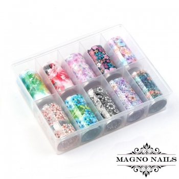 Nail Art Transfer Folien Set - Flowers