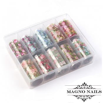 Nail Art Transfer Folien Set - Rosen