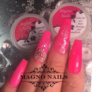 UV Gel - 1412 - Farb Gel Neon Flamingo