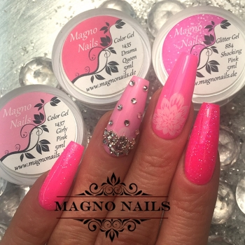 UV Gel - 884 - Glitter Gel Shocking Pink
