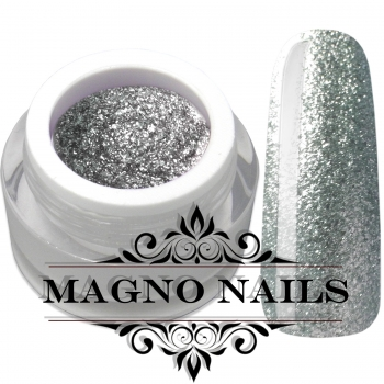 UV Gel - 1903 - Chrome Glitter Glam Gel - Silver Star