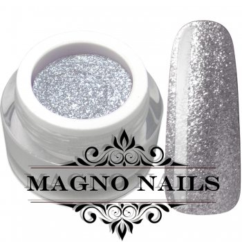 UV Gel - 1909 - Chrome Glitter Glam Gel - Light Silver
