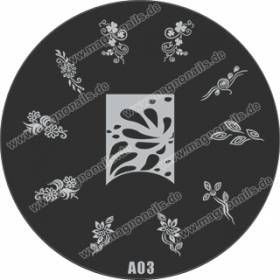 Nail Stamping Schablone A03