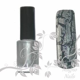 Crackle Nagellack - Silber 5ml