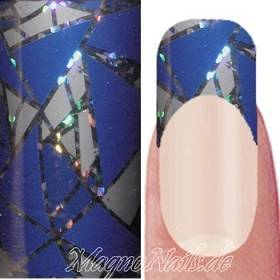 Nail Art Transfer Folie 1,5m - Nail Foil -  Lilac Triangles