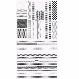 3D Full Cover Metallic Sticker Set - schwarz-silber