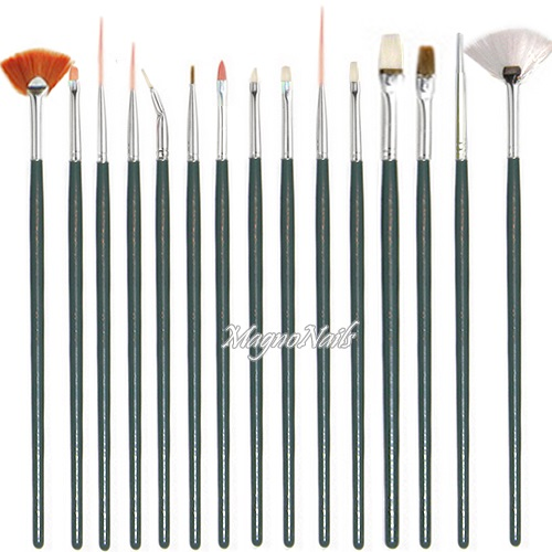 Nail Art Pinsel Set 15 Teilig Profi Nageldesign Shop Nail Art