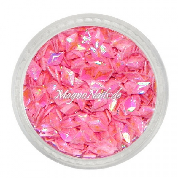 3D Diamond Shapes - pink
