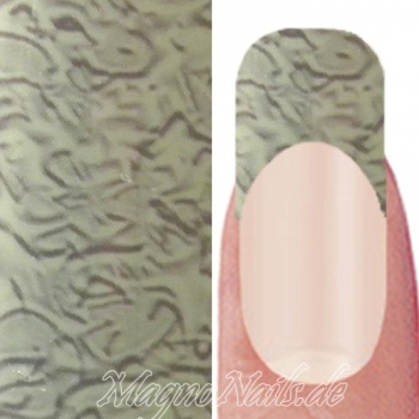 Nail Art Transfer Folie 0,45m - Nail Foil - Brown Swirl