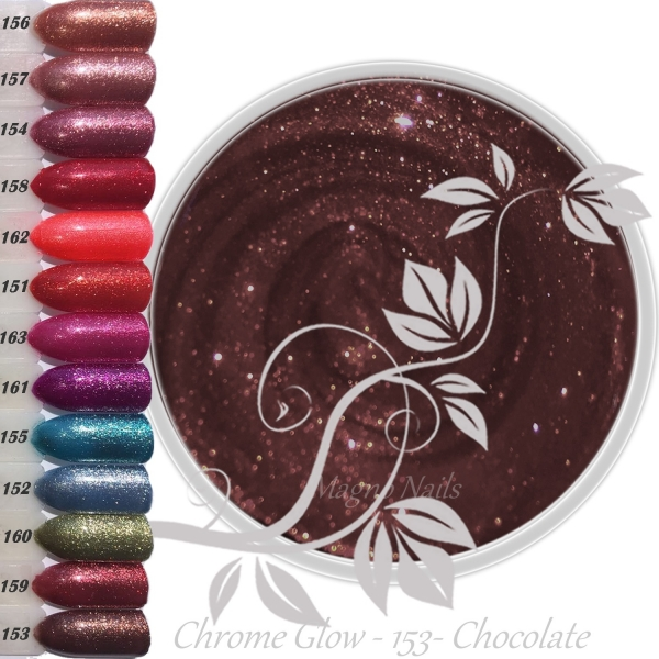 UV Gel - 153 - Chrome Glow Gel - Chocolate