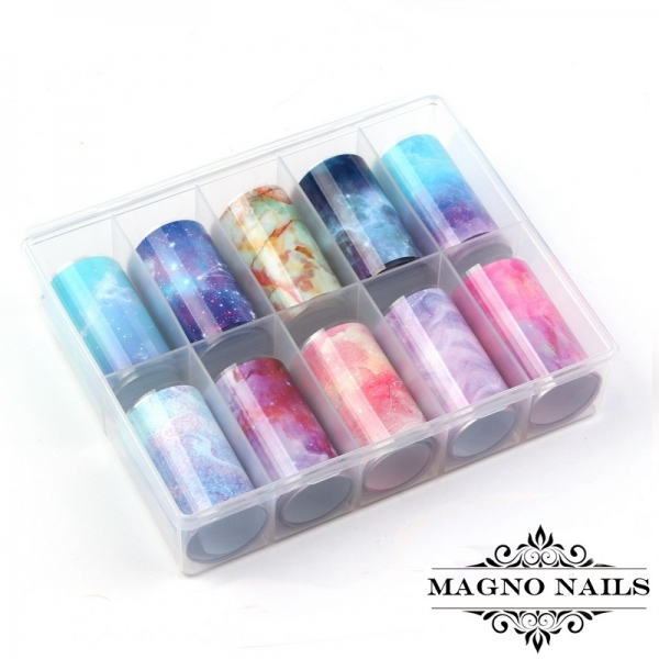 Nail Art Transfer Folien Set - Aquarell