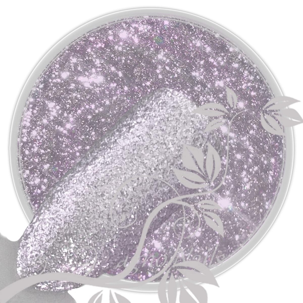 UV Gel - 177 - Chrome Glitter Glam Gel - Lilac silver