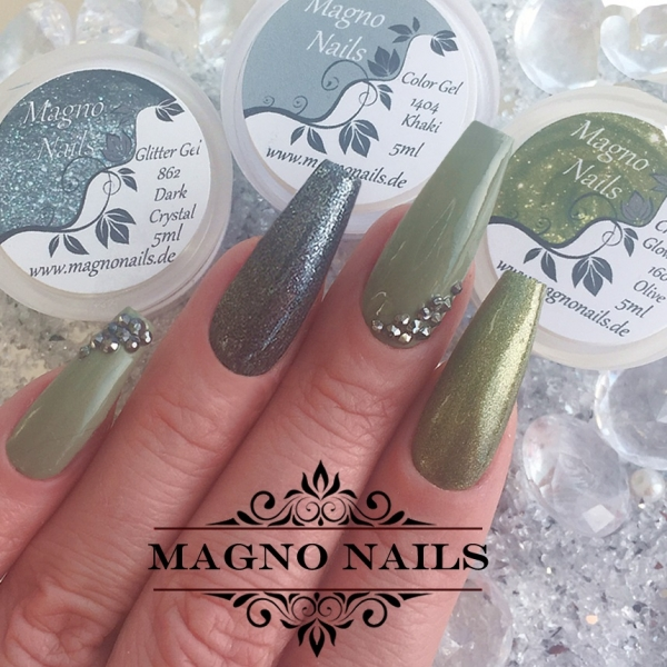 UV Gel - 160 - Chrome Glow Gel - Olive