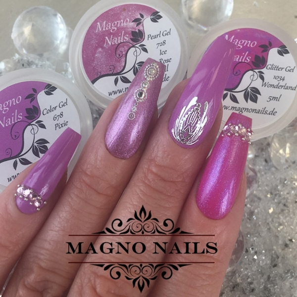 UV Gel - 728 -  Pearl Gel Ice Rose
