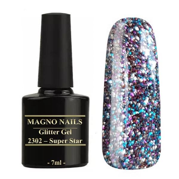 UV Gel - 2302 - Glitter Gel - Super Star